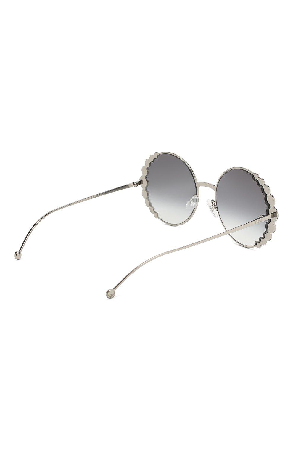 Солнцезащитные очки Fendi серебряные | Фото №4