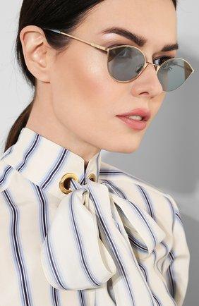 Солнцезащитные очки Fendi голубые   Фото №2