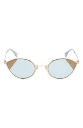 Солнцезащитные очки Fendi голубые   Фото №3