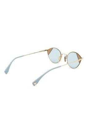 Солнцезащитные очки Fendi голубые   Фото №4