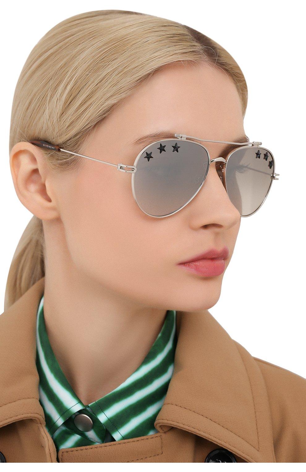 Солнцезащитные очки Givenchy серебряные | Фото №2