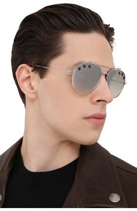 Солнцезащитные очки Givenchy серебряные | Фото №3