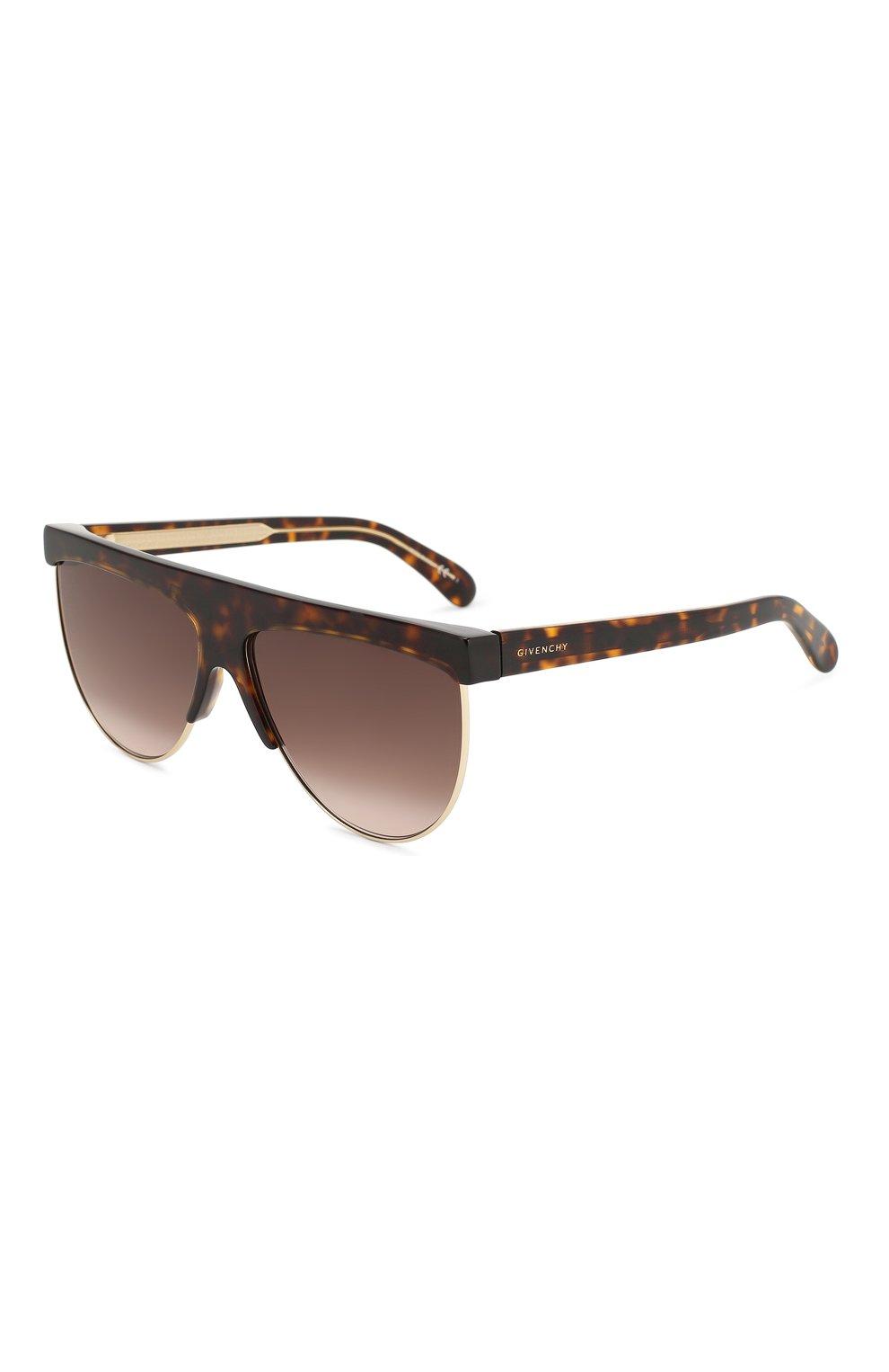 Женские солнцезащитные очки GIVENCHY коричневого цвета, арт. 7118/G 086 | Фото 1