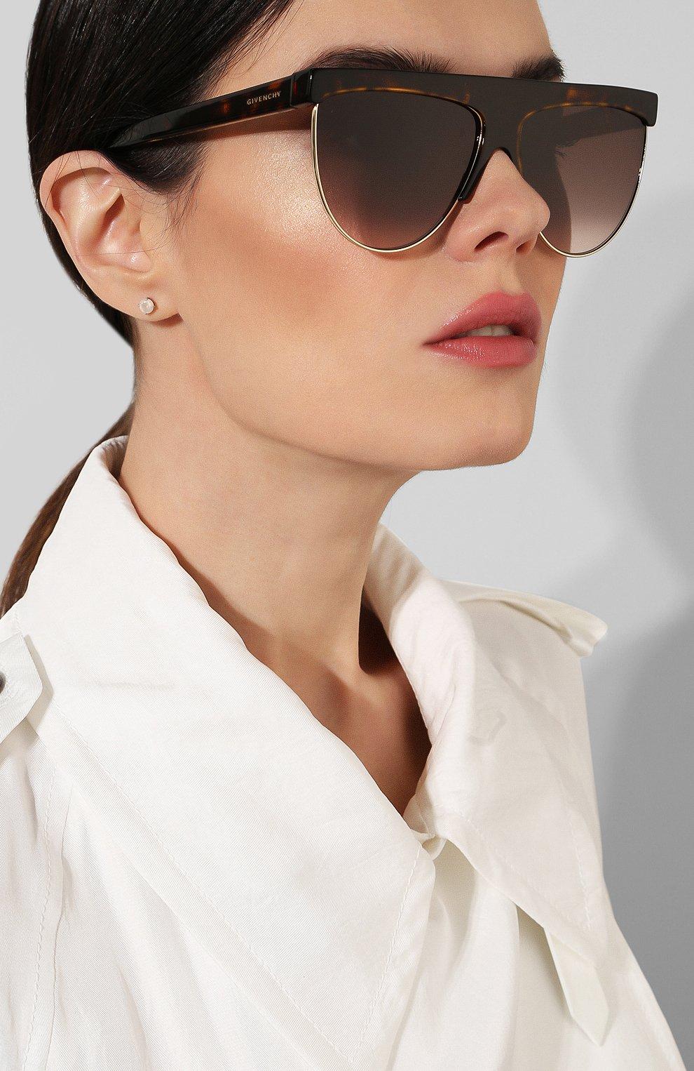 Женские солнцезащитные очки GIVENCHY коричневого цвета, арт. 7118/G 086 | Фото 2