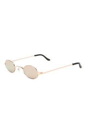 Солнцезащитные очки Roberi & Fraud золотые | Фото №1