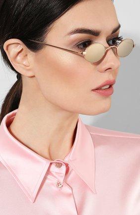 Солнцезащитные очки Roberi & Fraud золотые | Фото №2