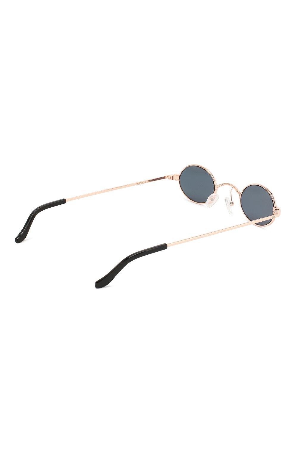 Солнцезащитные очки Roberi & Fraud золотые | Фото №4