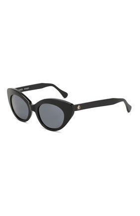Солнцезащитные очки Roberi & Fraud черные | Фото №1