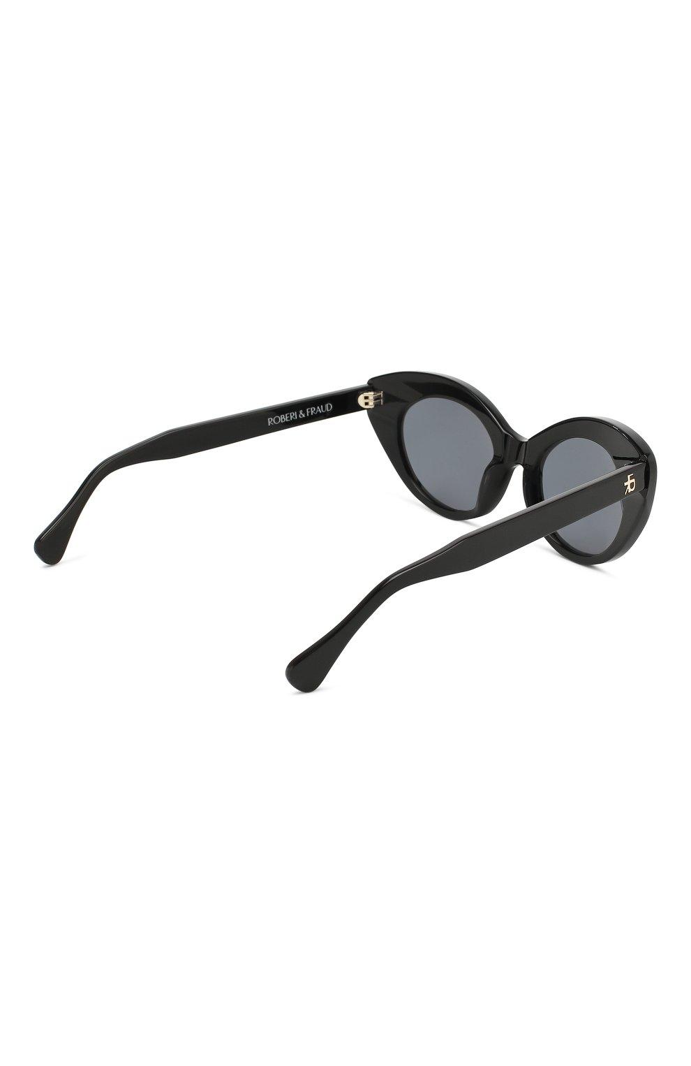 Солнцезащитные очки Roberi & Fraud черные | Фото №4