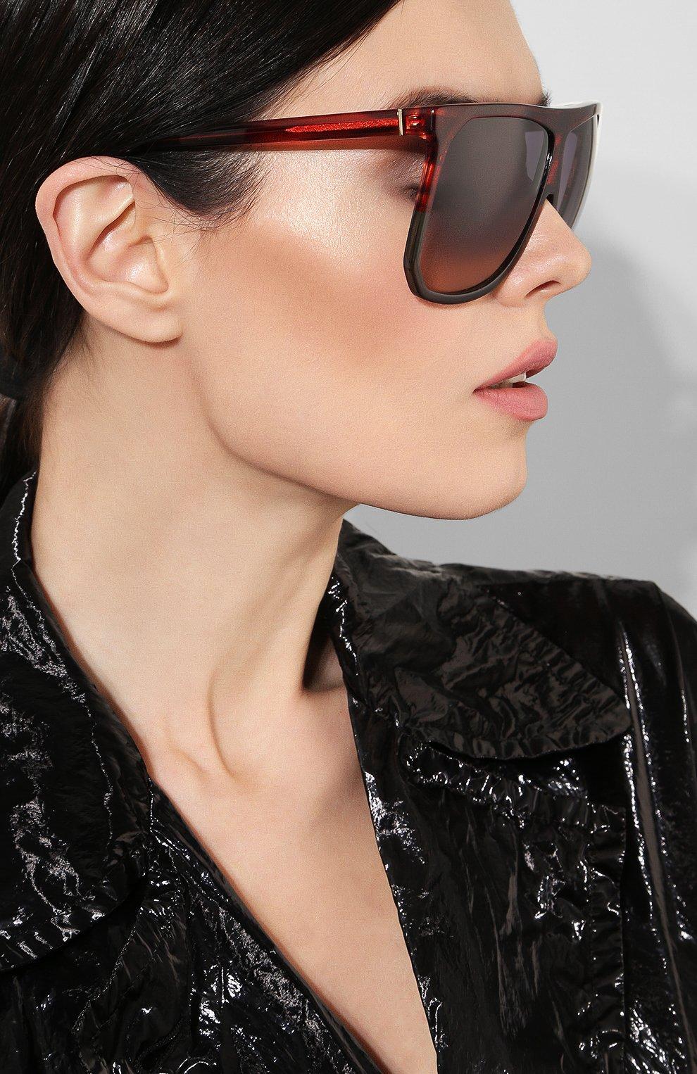 Солнцезащитные очки Loewe красные | Фото №2