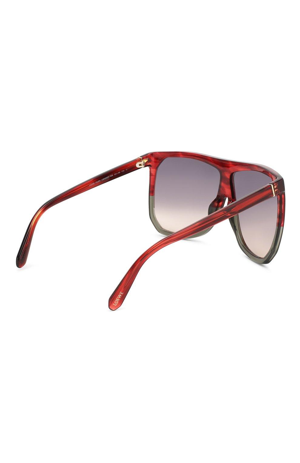 Солнцезащитные очки Loewe красные | Фото №4