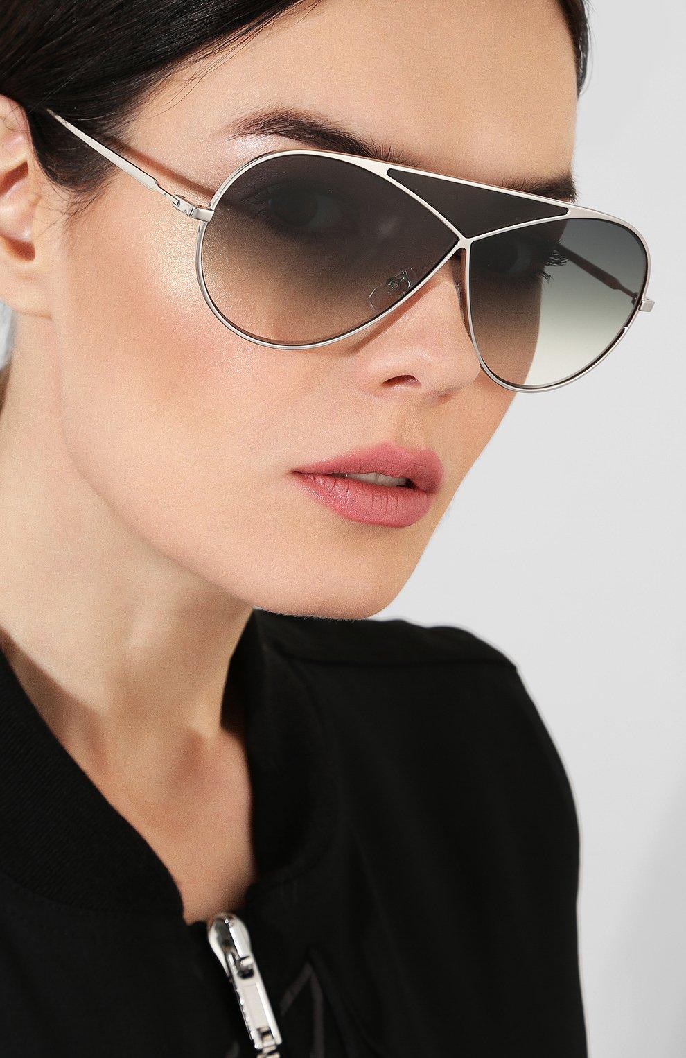 Солнцезащитные очки Loewe серебряные | Фото №2