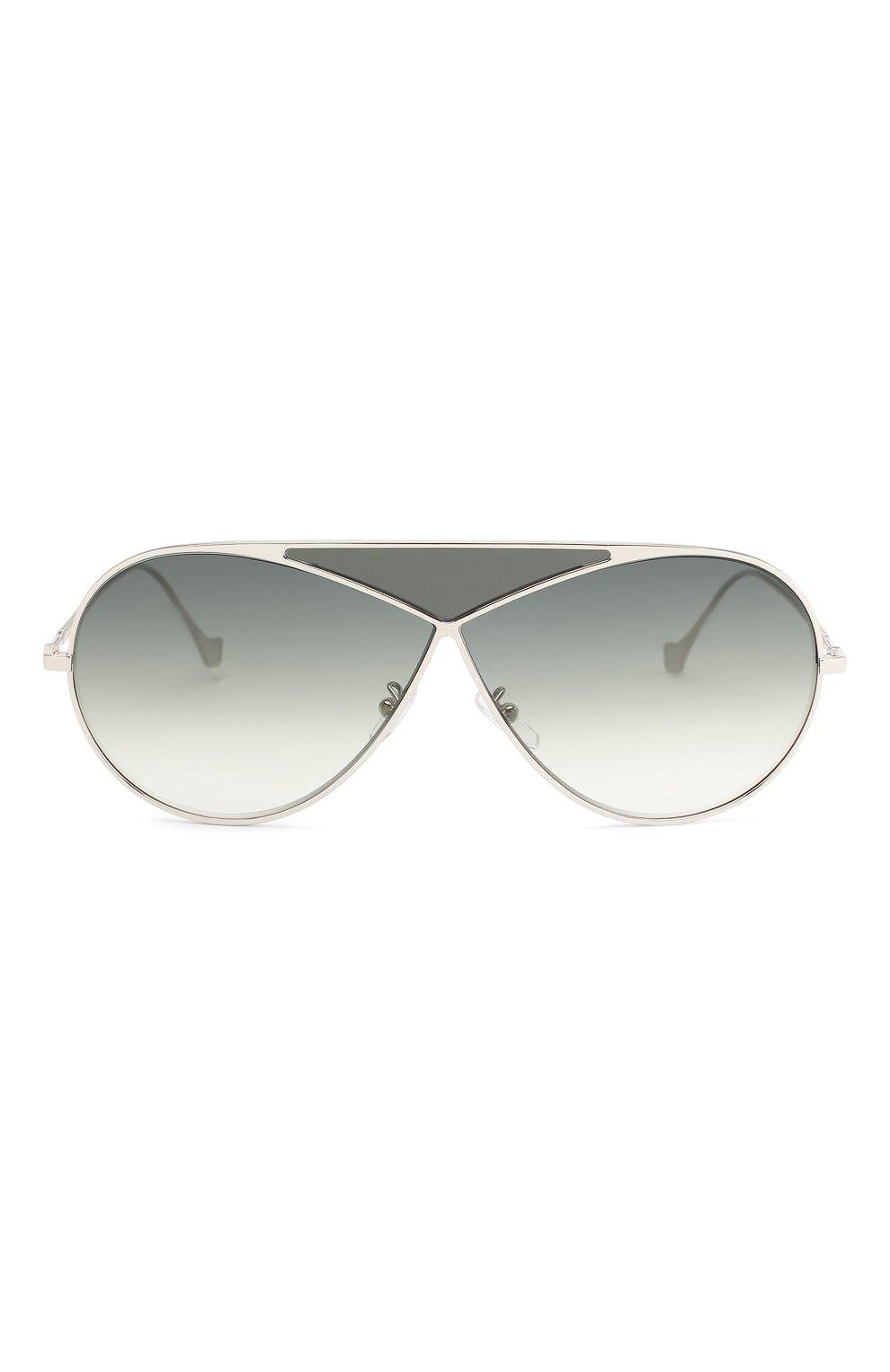 Солнцезащитные очки Loewe серебряные | Фото №3