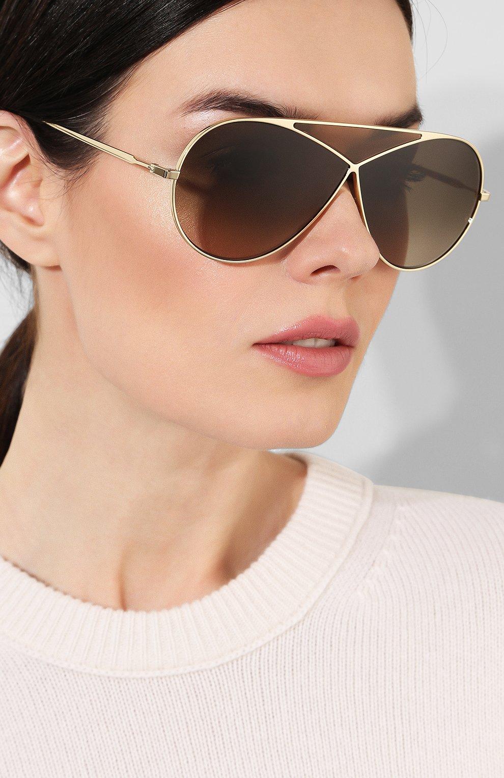 Женские солнцезащитные очки LOEWE золотого цвета, арт. LW40010U 33K   Фото 2
