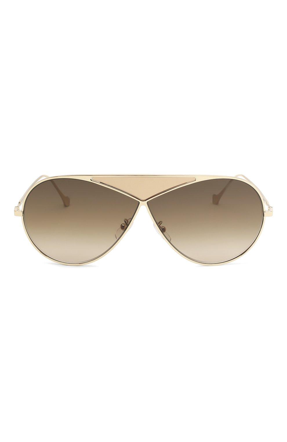Женские солнцезащитные очки LOEWE золотого цвета, арт. LW40010U 33K   Фото 3
