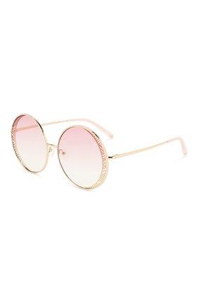 Солнцезащитные очки Matthew Williamson светло-розовые | Фото №1
