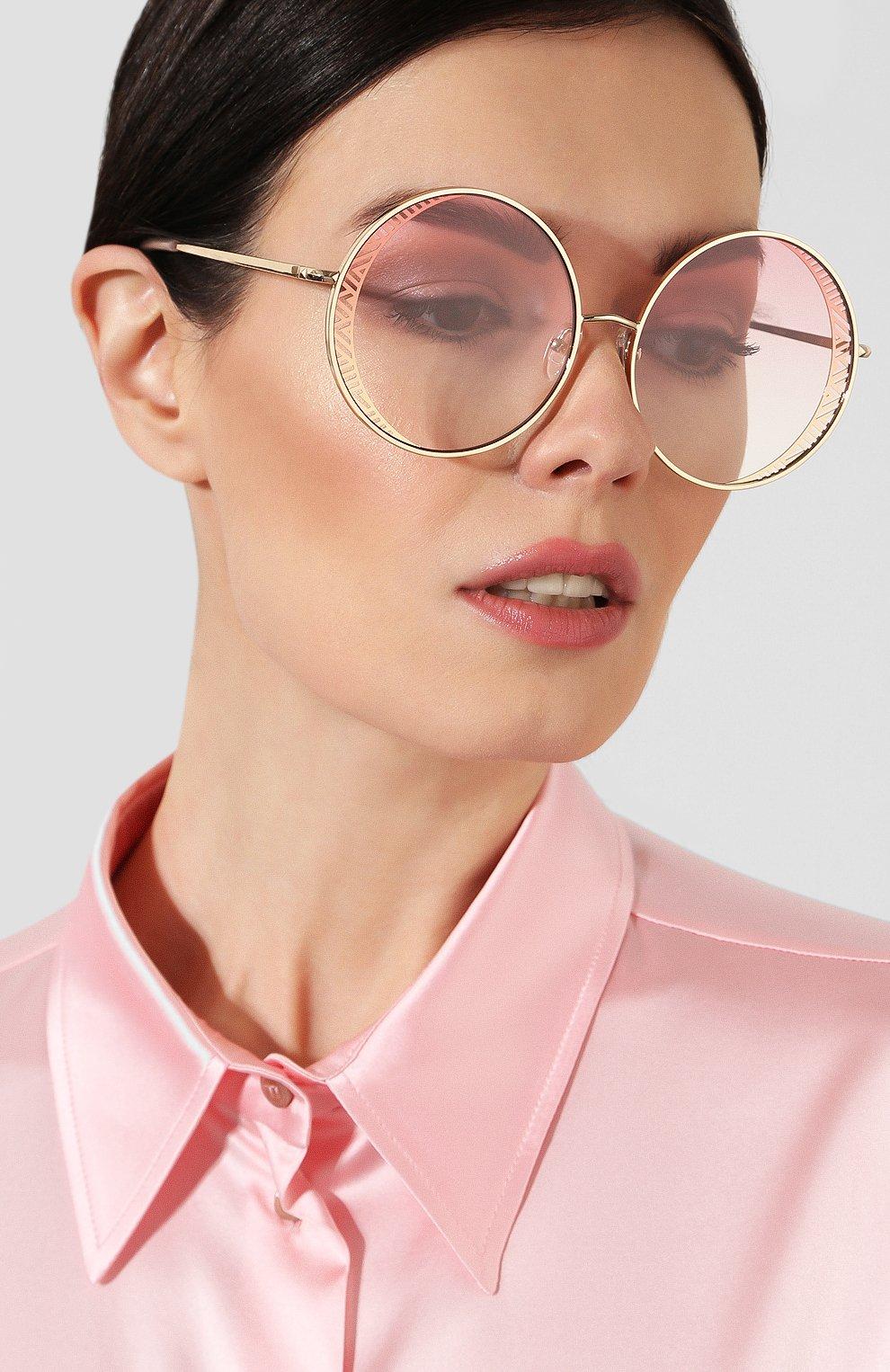 Женские солнцезащитные очки MATTHEW WILLIAMSON светло-розового цвета, арт. MW226C4 SUN | Фото 2