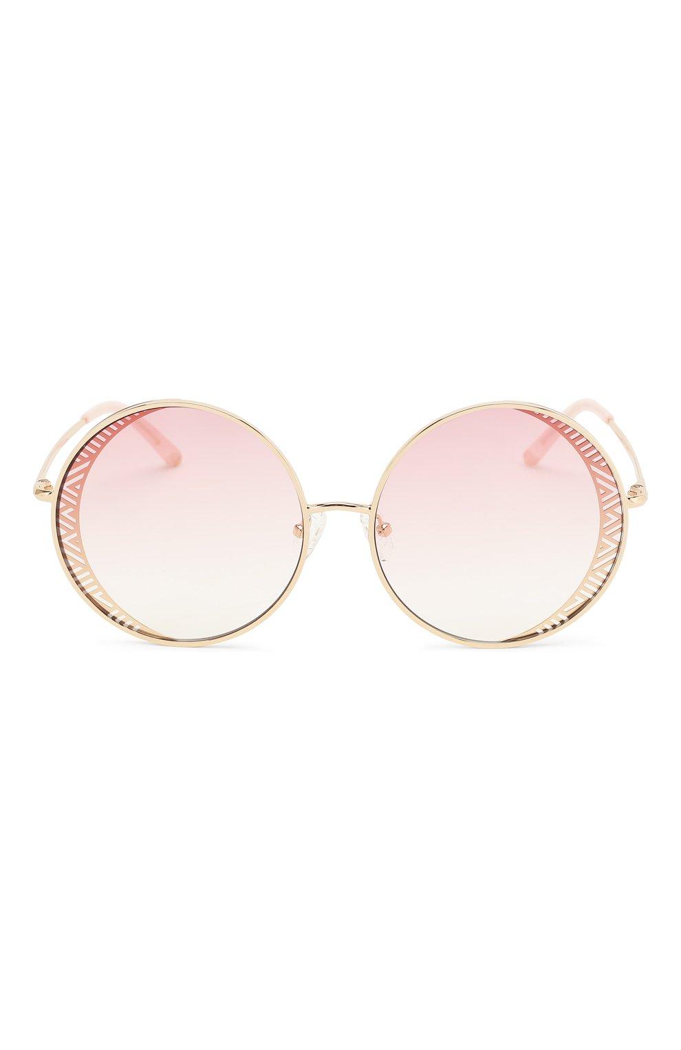 Женские солнцезащитные очки MATTHEW WILLIAMSON светло-розового цвета, арт. MW226C4 SUN | Фото 3