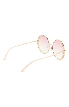 Женские солнцезащитные очки MATTHEW WILLIAMSON светло-розового цвета, арт. MW226C4 SUN | Фото 4