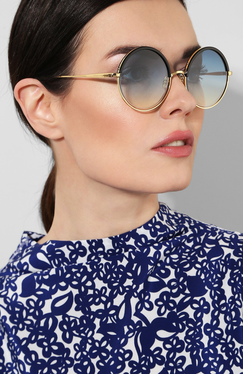 Женские солнцезащитные очки SPEKTRE синего цвета, арт. DECHIRIC0 01BFT | Фото 2