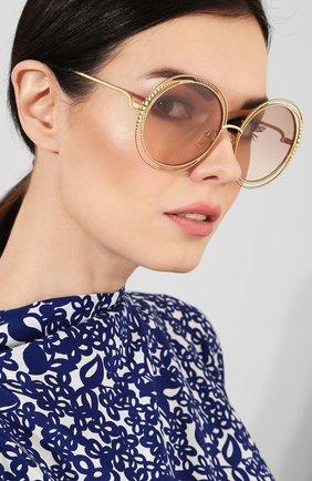 Солнцезащитные очки Chloé золотые   Фото №2
