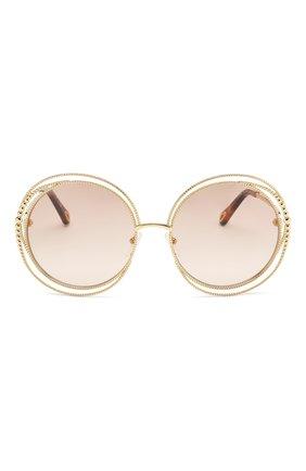 Солнцезащитные очки Chloé золотые   Фото №3