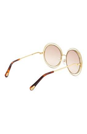 Солнцезащитные очки Chloé золотые   Фото №4