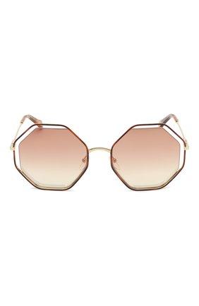 Женские солнцезащитные очки CHLOÉ светло-коричневого цвета, арт. 132S-205   Фото 3