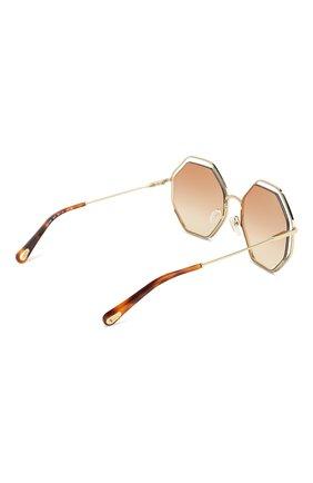 Женские солнцезащитные очки CHLOÉ светло-коричневого цвета, арт. 132S-205   Фото 4
