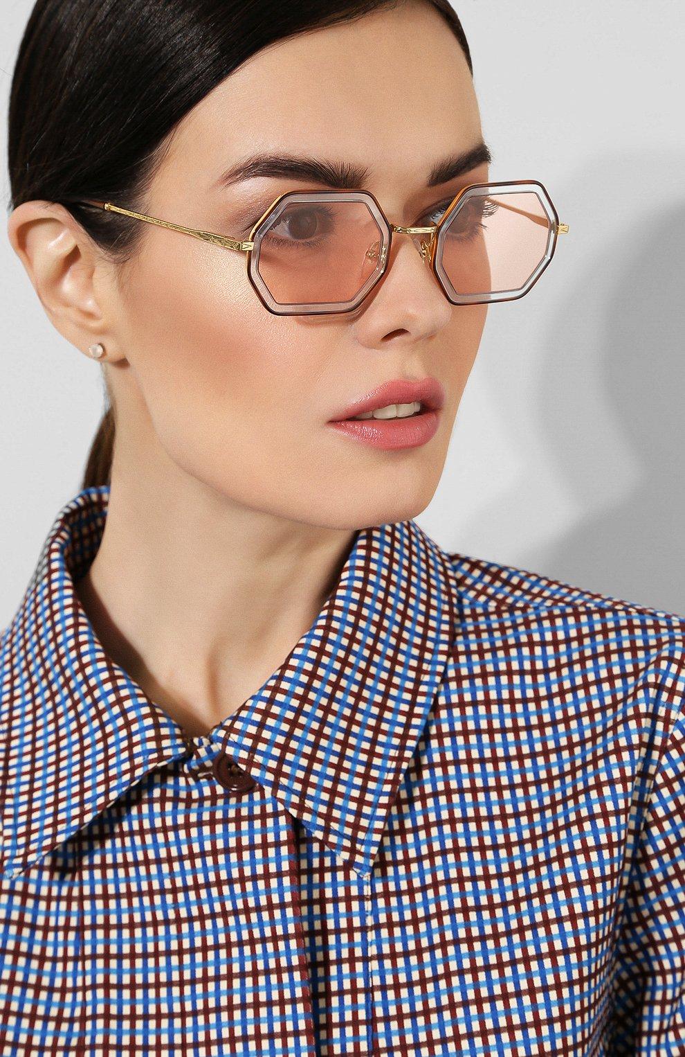 Солнцезащитные очки Chloé светло-розовые   Фото №2