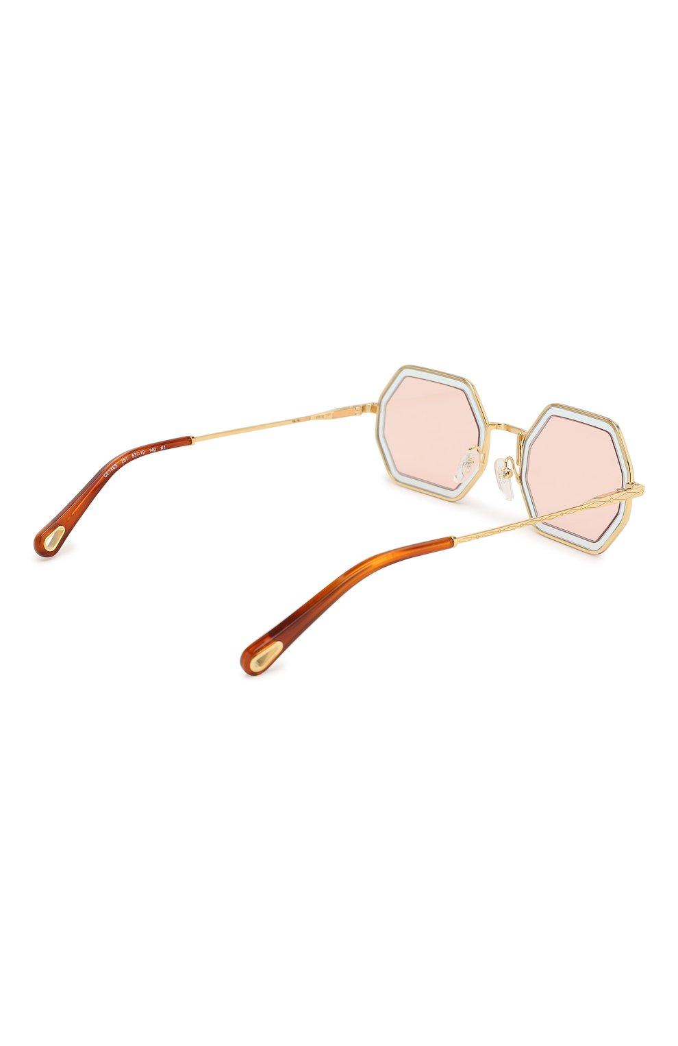 Солнцезащитные очки Chloé светло-розовые   Фото №4