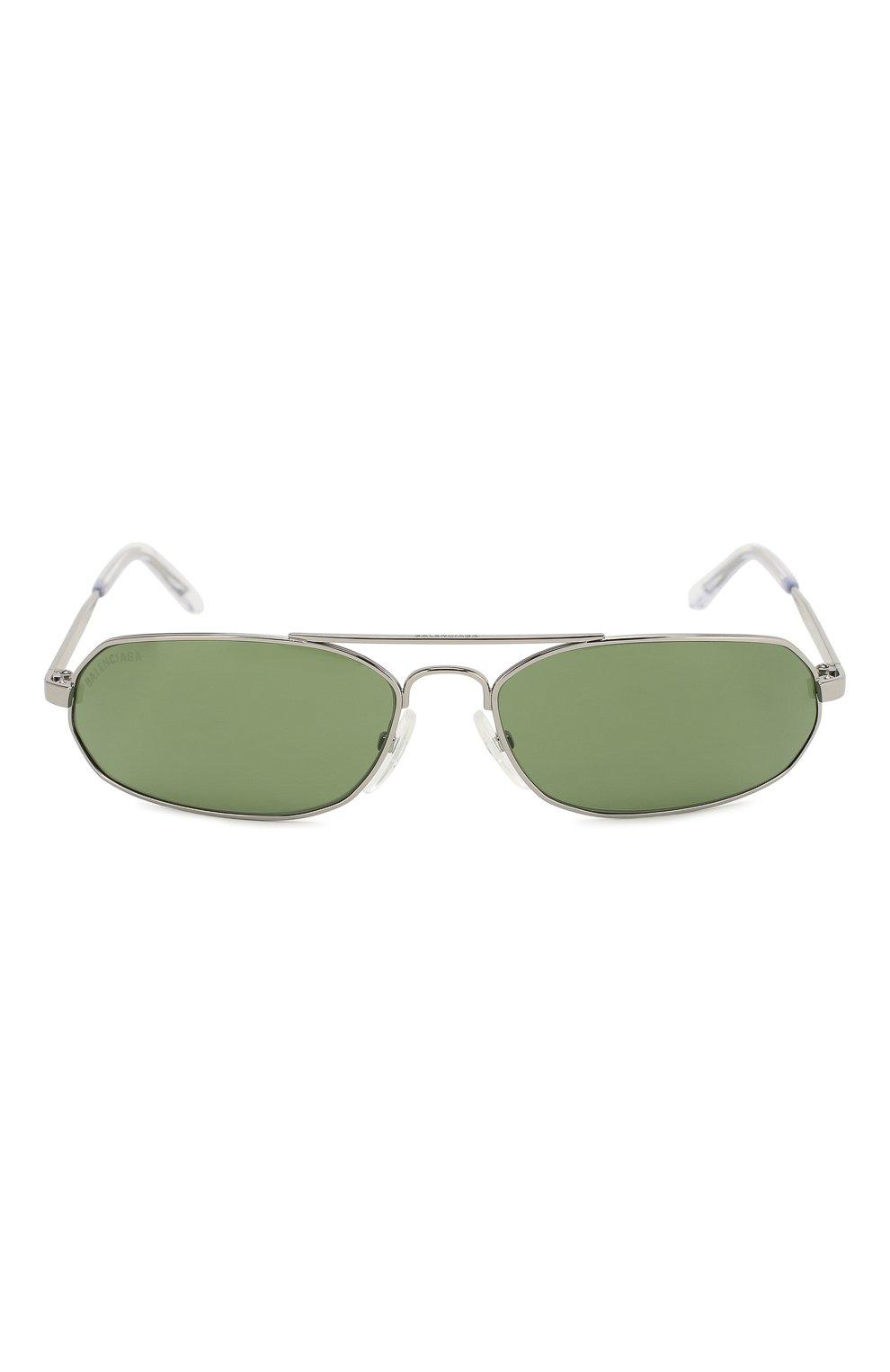 Солнцезащитные очки Balenciaga зеленые | Фото №3