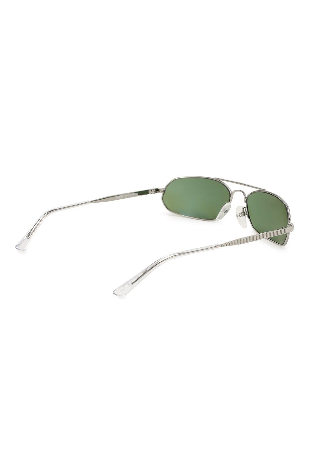 Солнцезащитные очки Balenciaga зеленые | Фото №4