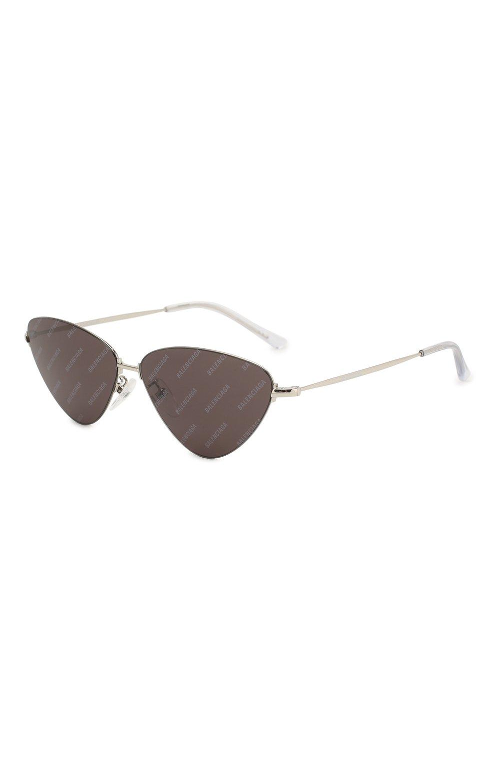 Женские солнцезащитные очки BALENCIAGA черного цвета, арт. BB0015 004 | Фото 1
