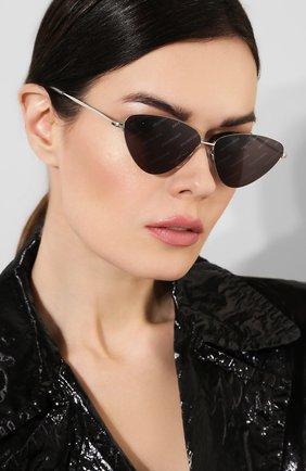 Женские солнцезащитные очки BALENCIAGA черного цвета, арт. BB0015 004 | Фото 2