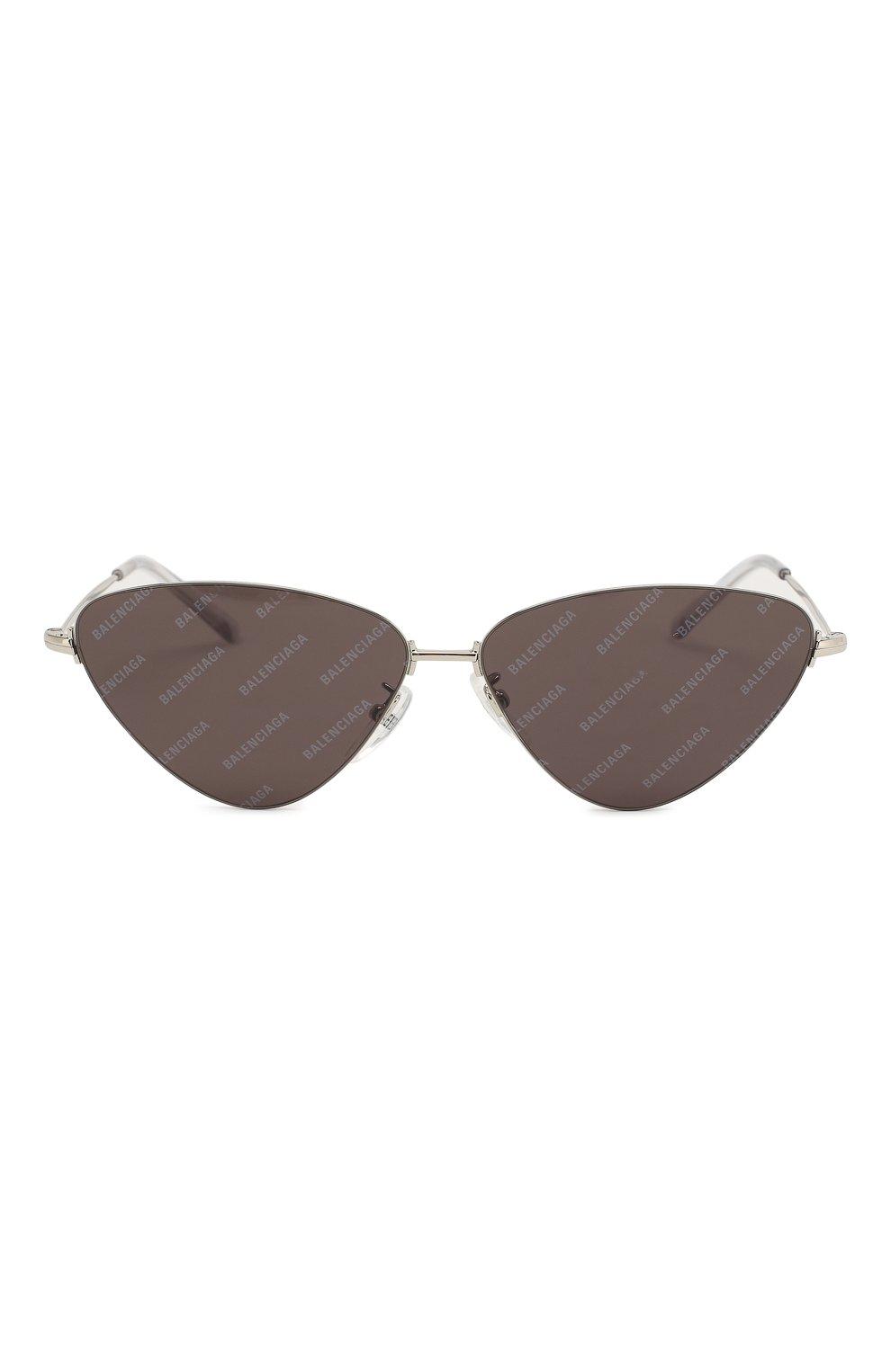 Женские солнцезащитные очки BALENCIAGA черного цвета, арт. BB0015 004 | Фото 3