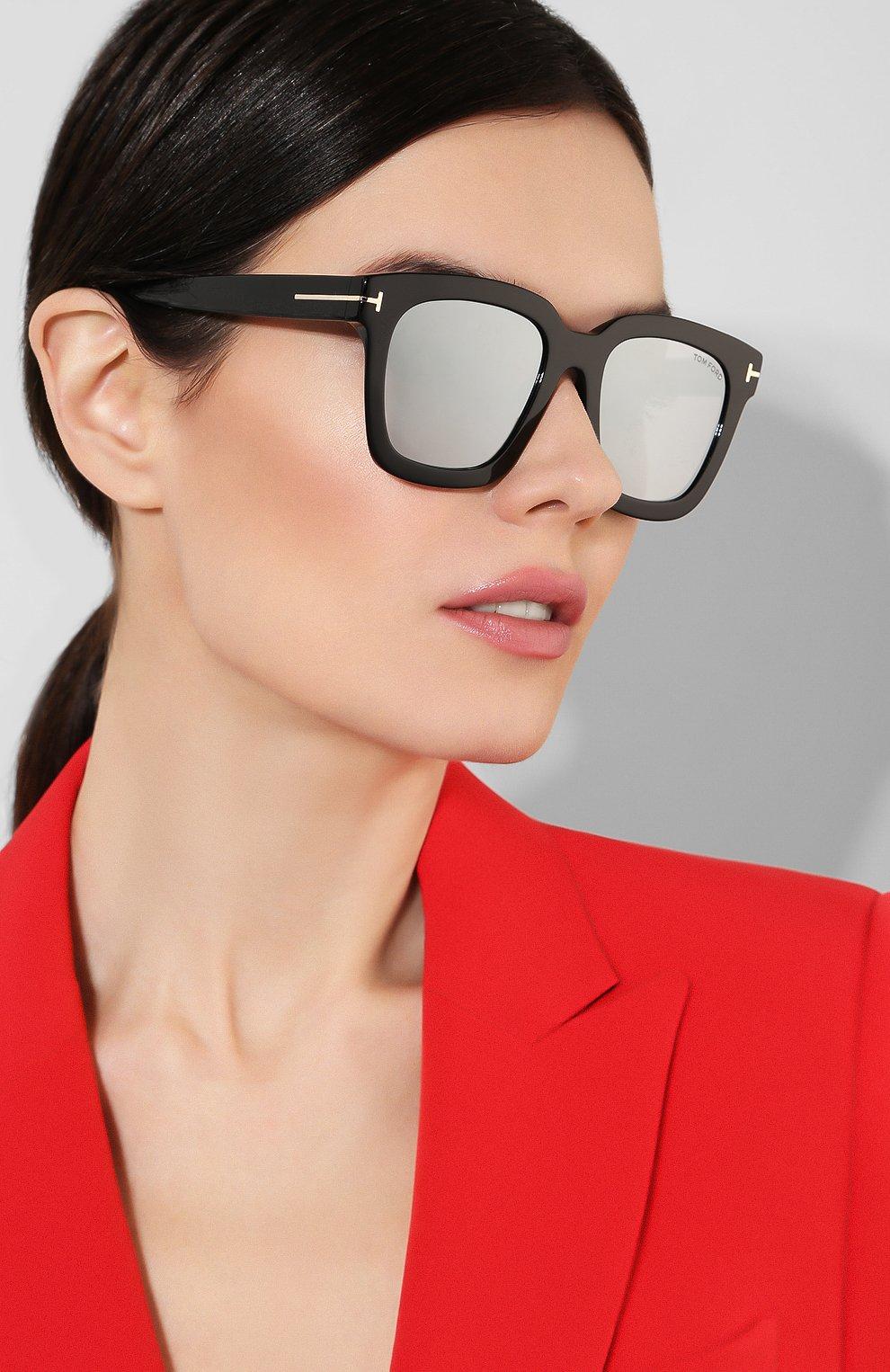 Женские солнцезащитные очки TOM FORD черного цвета, арт. TF690 01C | Фото 2