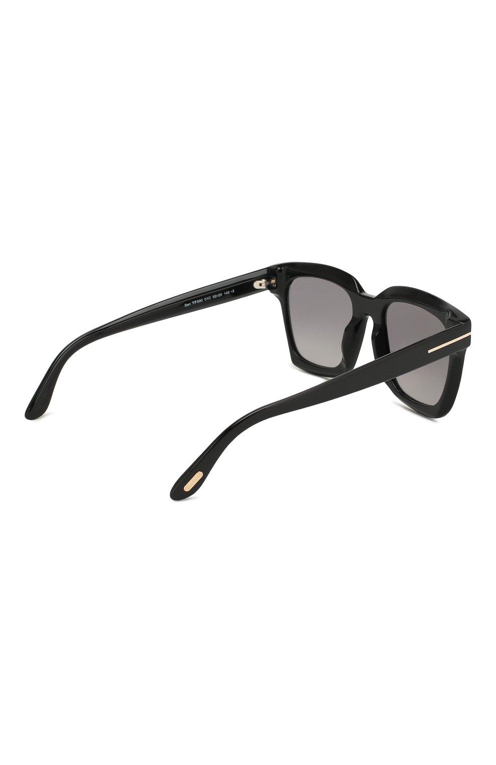 Женские солнцезащитные очки TOM FORD черного цвета, арт. TF690 01C | Фото 4