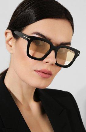 Солнцезащитные очки Tom Ford черные | Фото №2