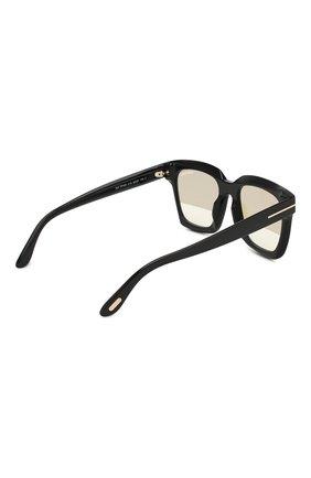 Солнцезащитные очки Tom Ford черные | Фото №4