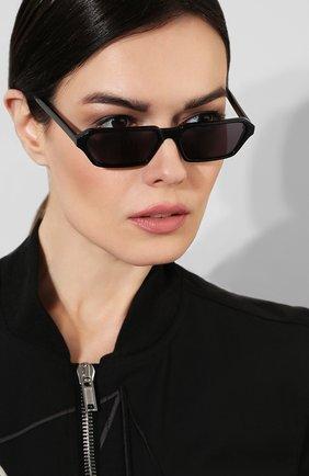 Женские солнцезащитные очки ILLESTEVA черного цвета, арт. BAXTER II BLACK   Фото 2 (Статус проверки: Проверена категория, Проверено; Тип очков: С/з; Оптика Гендер: оптика-унисекс; Очки форма: Прямоугольные)
