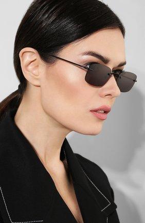 Женские солнцезащитные очки ILLESTEVA черного цвета, арт. B0VALIN0 MATTE BLACK   Фото 2 (Тип очков: С/з)