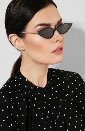 Женские солнцезащитные очки ILLESTEVA черного цвета, арт. MARIANNE BLACK/G0LD/GREY   Фото 2 (Тип очков: С/з)