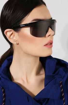 Женские солнцезащитные очки ILLESTEVA черного цвета, арт. MANAGUA BLACK   Фото 2 (Статус проверки: Проверена категория, Проверено; Тип очков: С/з; Очки форма: Маска; Оптика Гендер: оптика-унисекс)