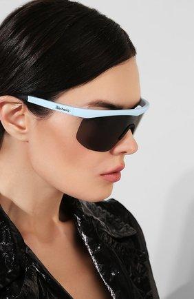 Женские солнцезащитные очки ILLESTEVA голубого цвета, арт. MANAGUA MATTE BABY BLUE   Фото 2 (Статус проверки: Проверено; Оптика Гендер: оптика-унисекс; Очки форма: Маска)