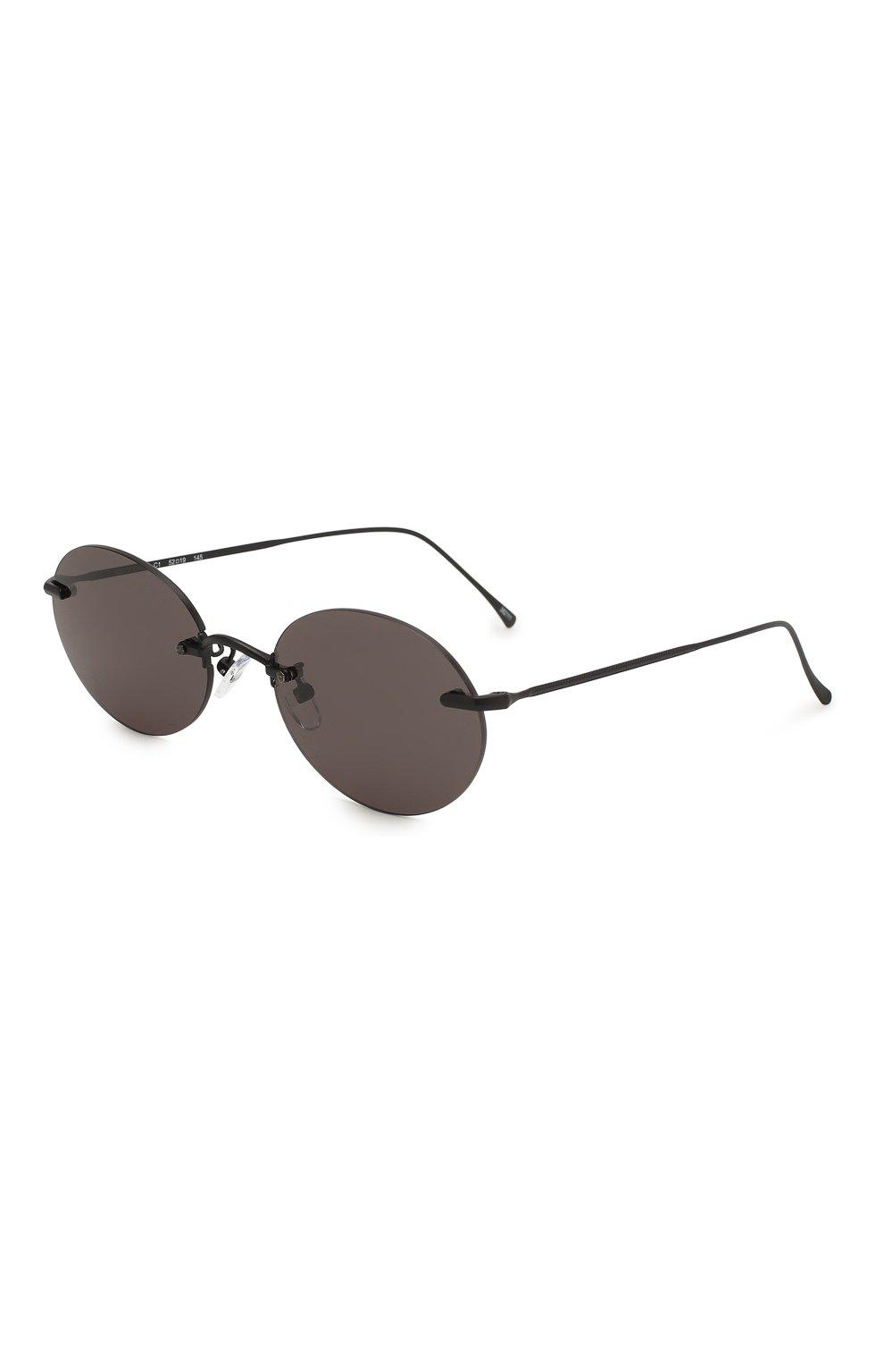 Женские солнцезащитные очки ILLESTEVA черного цвета, арт. NIC0TERA MATTE BLACK   Фото 1