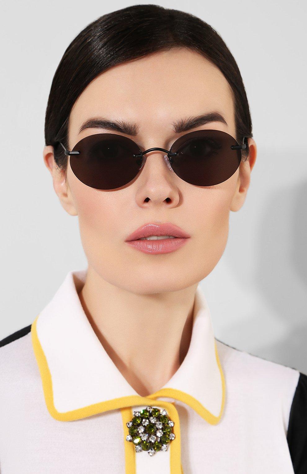 Женские солнцезащитные очки ILLESTEVA черного цвета, арт. NIC0TERA MATTE BLACK   Фото 2