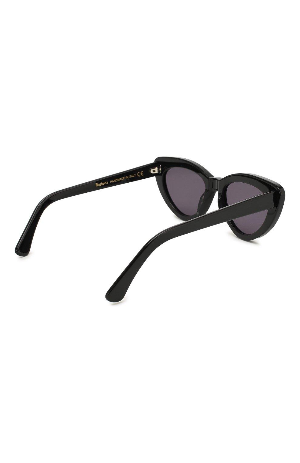 Женские солнцезащитные очки ILLESTEVA черного цвета, арт. PAMELA BLACK/GREY | Фото 4