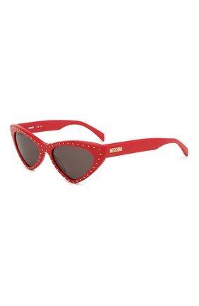Мужские солнцезащитные очки MOSCHINO красного цвета, арт. M0S006 C9A | Фото 1