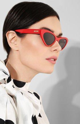 Мужские солнцезащитные очки MOSCHINO красного цвета, арт. M0S006 C9A | Фото 2